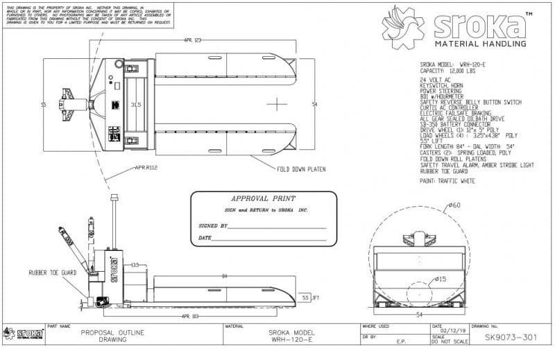 12,000 LBS Capacity Paper Roll Handler | Sroka