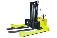 10,000 lb Capacity Walkie Straddle Stacker - Electric Walk Behind Straddle Forklift | Sroka